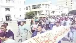 طلاب جامعة المنصورة للمطالبة باقالة القيادات الجامعية وتغيير اللائحة الطلابية
