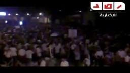 المتظاهرين الأقباط الأن يقطعون الطريق  أمام المنطقة الشمالية العسكرية بالأسكندرية