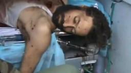 جثة المعتصم القذافي بعد مقتله