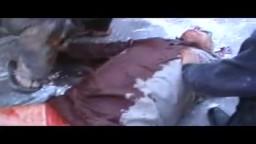 سوريا حمص جب الجندلي -جثمان الشهيد احمد شحود اثر اطلاق النار على المتظاهرين من قبل قوات الأسد 21/ 10