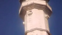 اثار قصف عصابات الاسد لمسجد عقبة بن نافع بحمص