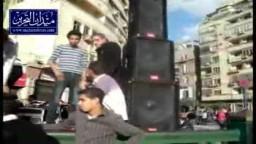 اعداد المنصات وانشاء الخيام في الميدان استعدادا لمليونية 18 نوفمبر
