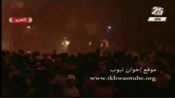 ميدان التحرير منذ قليل : اشتباكات بين معتصمين وقوات الشرطة