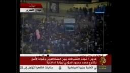 اشتبكات بميدان التحرير بين الشرطة والمتظاهرين 19/ 11