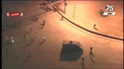 لحظة دخول المدرعات ميدان التحرير لفض الاعتصام 19 /11