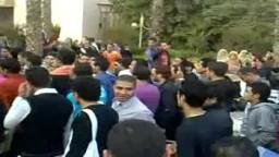 طلاب جامعة الزقازيق يتظاهرون لمساندة معتصمي التحرير