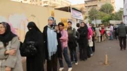 الاقبال على التصويت في مدينة نصر
