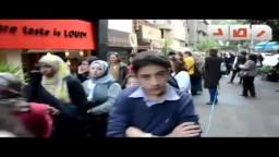أطول طابور نسائى فى مصر بمنطقة الزمالك بالقاهرة