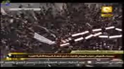 مسيرة هائلة بالنعوش تجوب الميدان فى جمعة رد الإعتبار