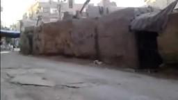 سوريا- ريف دمشق- عصابات الأسد تقوم بحرق خيمة العزاء والكراسي 11/ 12