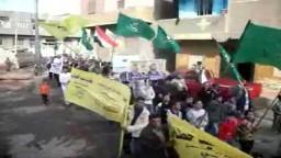 مسيرة انتخابية للإخوان والحرية والعدالة بالإخصاص بمركز الصف.