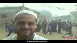 حوار من أمام أحد اللجان مع الشيخ محمد كمال بمركز الصف بالدائرة الأولى بالجيزة