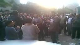 انصار الحرية والعدالة من أمام لجان الفرز في الدائرة الاولى بالجيزة