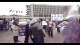 مسيرة لفتيات اسيوط احتجاجا على أحداث مجلس الوزراء