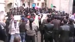 سوريا- حمص تلبيسة مظاهرة رائعة تحت الرصاص 25 12