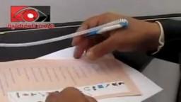 الدكتور طارق الدسوقى المرشح على رأس قائمة حزب الحرية والعدالة بالدقهلية أثناء الادلاء بصوته بقرية طناح مركز المنصورة