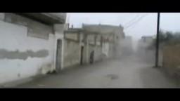 سوريا-- حمص- ضرب قذائف هاون من قبل عصابات ... عصابات الأسد