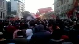 التراس الاهلي بعد اقتحامه لمحمد محمود يهتف حرية حرية