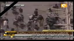 اشتباكات الأمن المركزي ومتظاهري السويس  اليوم 3/ 2/ 2012