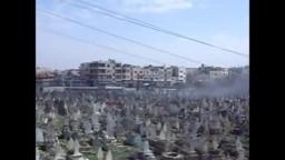 عاجل - باباعمرو- القصف يستهدف القبور هااام جدا 13-2-2012.
