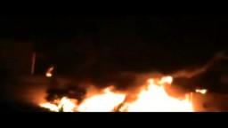سوريا--  احتراق منزل جرّاء قذيفة دبابة