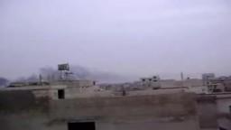ادلب - سرمين || قصف الجيش الاسدي للبلدة 27-2-2012 جـ3