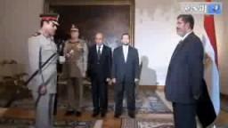 وزير الدفاع الجديد يحلف اليمين أمام الرئيس مرسي