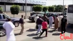 زيارة محمد مرسي الي سوق العبور واستقبال حافل