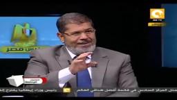 د. محمد مرسى يبعث برسالة لكل مواطن مصرى