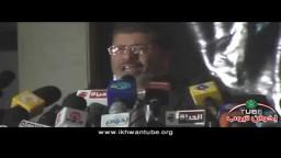 د/ مرسي يرد على أسئلة الصحفيين للتعليق على الأحداث