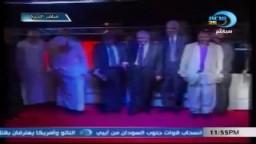 د مرسي يردد مع الجماهير نشيد جدد العهد من مؤتمر الجيزة
