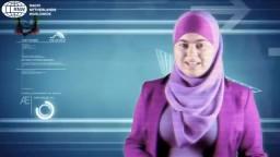 اول مذيعة محجبة في التلفزيون البلجيكى.