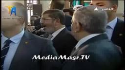 كلمة الرئيس مرسى عقب صلاة الجمعة بالفيوم