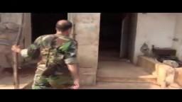 منزل أول ضابط ينشق عن نظام الأسد بعد أن تم تحريره