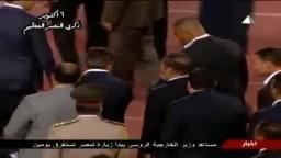 مغادرة الرئيس مرسي ستاد القاهرة بعد نهاية كلمته