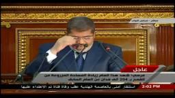 مرسي: كان لزاما علينا إجراء تعديلات في الحكومة
