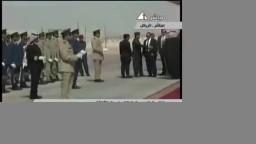 لحظة وصول مرسى الى الرياض واستقبال ملوك السعودية له