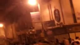 مشاهد حرق احد مقرات الاخوان بدمنهور 25 يناير 2013