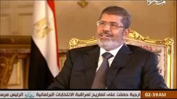 الرئيس مرسى : سأدعم بكل قوة القوات المسلحة