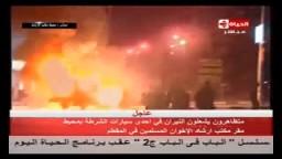 بلطجية يقطعون طريق مقرالإخوان