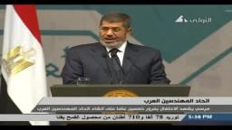 مرسي: إفتتاح الجسر بين سيناء وشبه الجزيرة