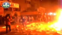 حرق مقر الاخوان بالخانكة على يد بلطجية تمرد