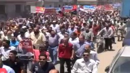 شوارع  دمياط تحتشد لتؤيد الرئيس مرسي