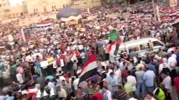 حشود ميدان مسجد سيدي بشر لتأييد الشرعية