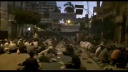 افطار المعتصمين من ميدان الحرية بالمنيا