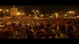 صلاة تراويح اول ليالي رمضان من ميدان النهضة