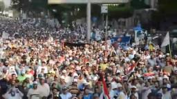 حشود هائلة متجهة الي الحرس الجمهوري
