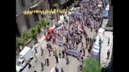 عشرات الاف يحاصرون مجلس الوزراء