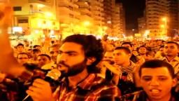عشرات الالاف فى وقفة لدعم الشرعية بالمنصورة