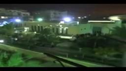 لحظة اطلاق الغاز بالمركز الاسلامي بدمياط
